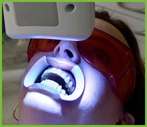 teeth whitening light